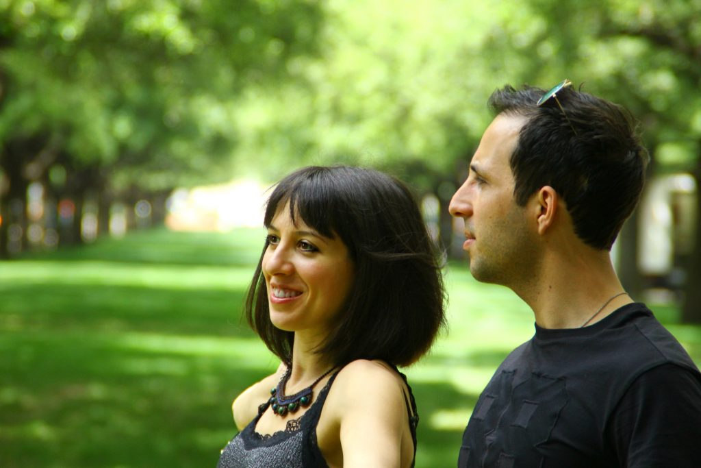 Alec & Ambra visiting SMU in 2016