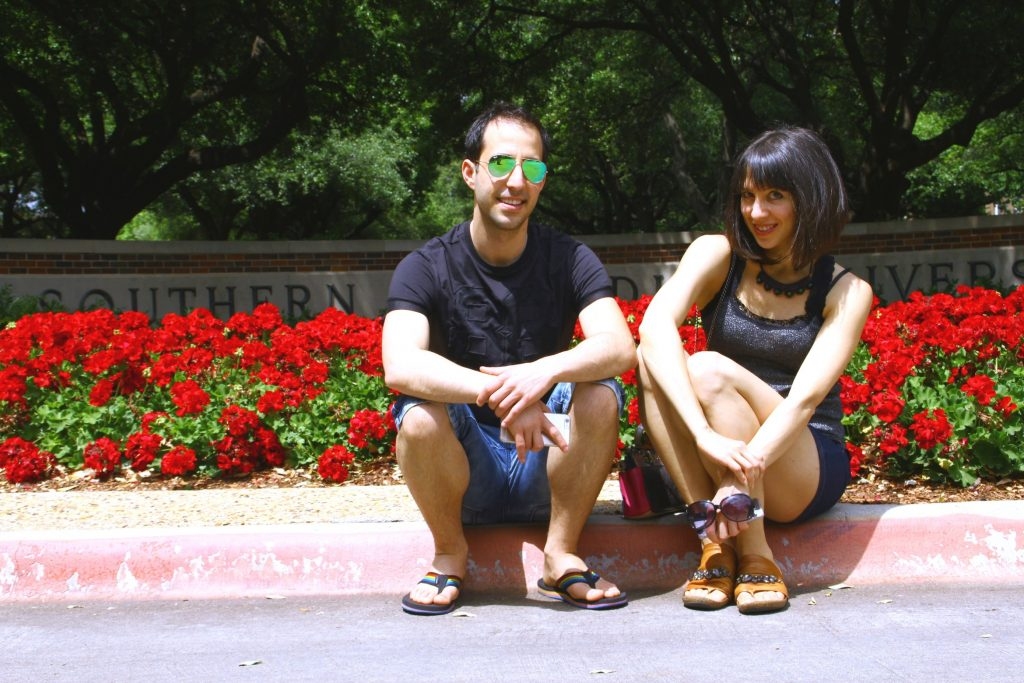 Alec and his wife Ambra visiting SMU in 2016