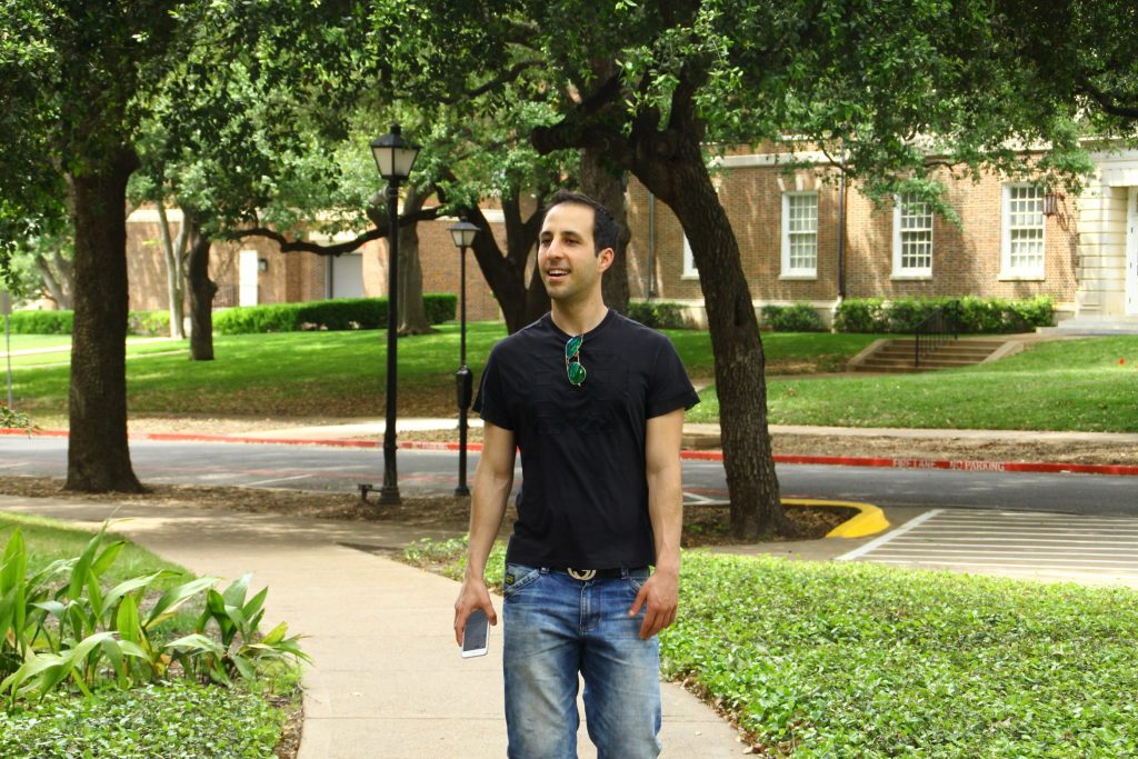 Alec visiting SMU in 2016